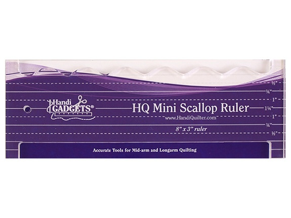 Image of the HQ Mini Scallop Ruler