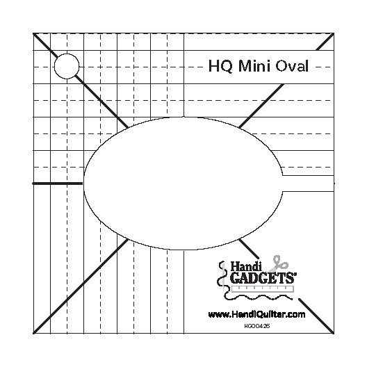 Diagram of the HQ Mini Oval Template