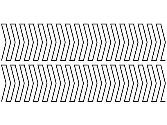 Diagram of the Stripes Right Groovy Board