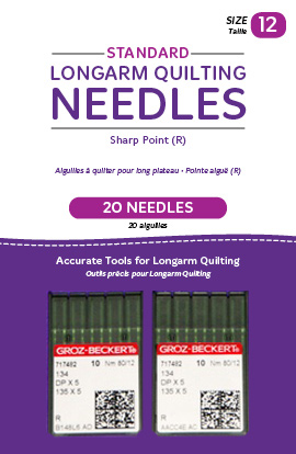 Standard Longarm Needles - Two Packages of 10 (12/80-R, Sharp)