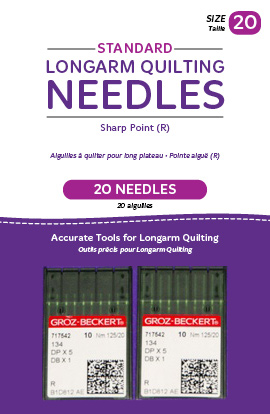 Standard Longarm Needles - Two Packages of 10 (20/125-R, Sharp)