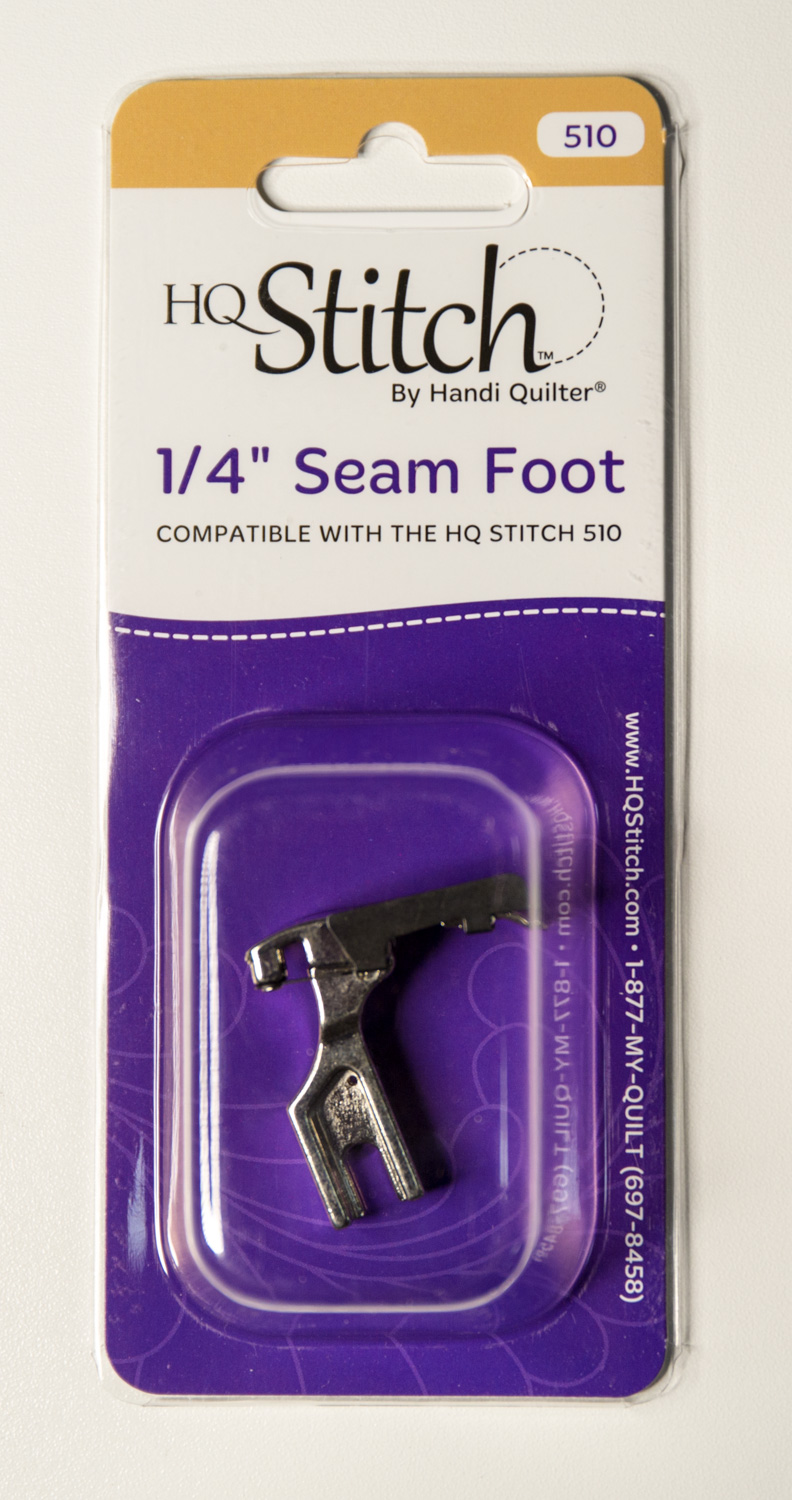 Image of the 1/4 inch Seam foot for HQ Stitch 210 in the package