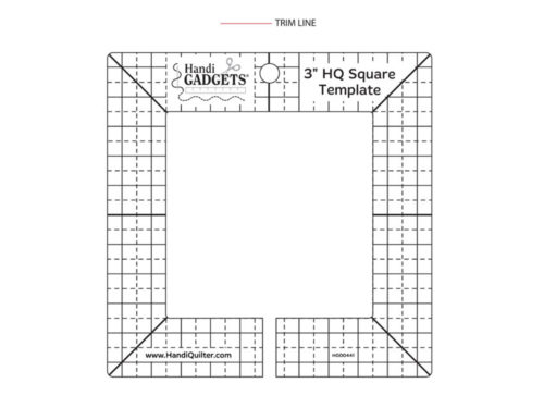 Diagram of the 3 inch HQ Square Ruler