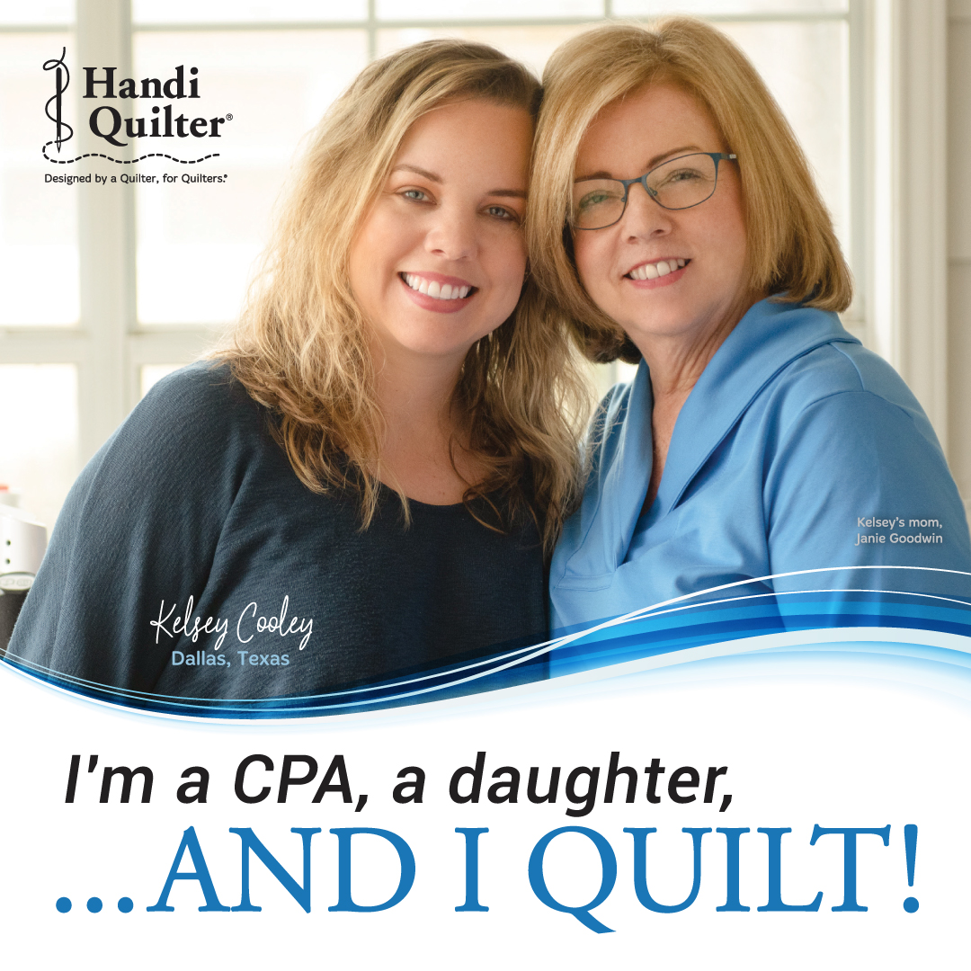 Image of Kelsey Cooley and her mom on an And I Quilt Poster